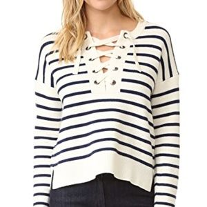 Madewell Sweaters - Madewell lace up sweater